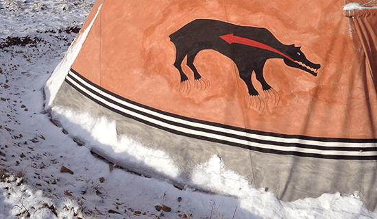 Šajenské teepee – zima